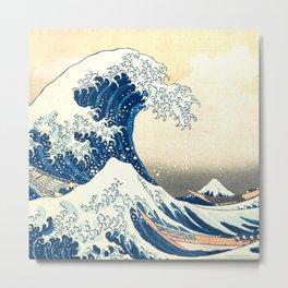 "Katsushika Hokusai ""The Great Wave off Kanagawa"" Metal Print"