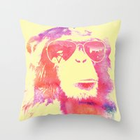 chill Throw Pillows featuring Chill by orangpalsu