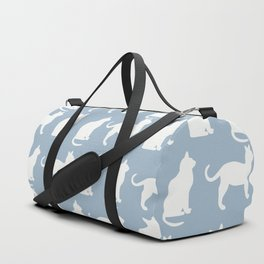 Pretty Pussy Cats On Pastel Blue Duffle Bag