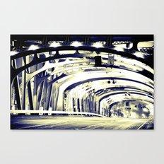 Through The Golden Bridge Canvas Print