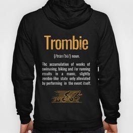 Trombie Triathlon Zombie graphic Hoody