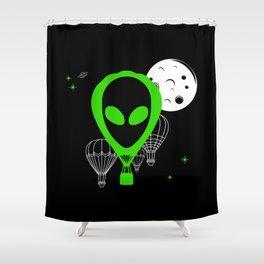 UFO Balloon Shower Curtain