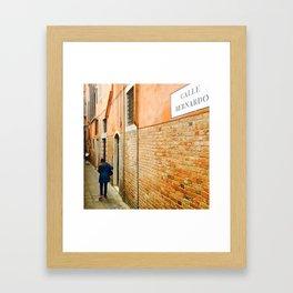 Calle Bernardo Framed Art Print