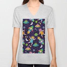 space animals Unisex V-Neck