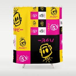 HAPPY Japanese Shower Curtain
