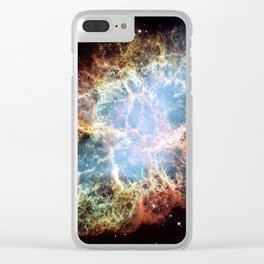 The Crab Nebula Clear iPhone Case