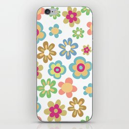 Retro 60s Hippie Flowers iPhone Skin