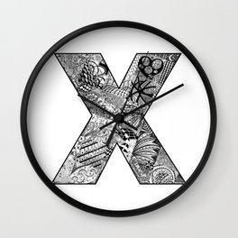 Cutout Letter X Wall Clock