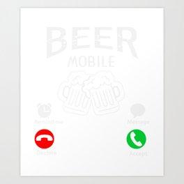 Beer T-Shirt Lager Drinker GIft Art Print