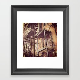 Metal and Brick Framed Art Print