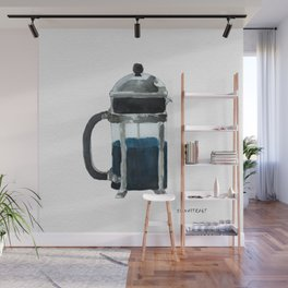 French Press - Blue Wall Mural