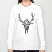 elk Long Sleeve T-shirts featuring Elk by Michael Arras