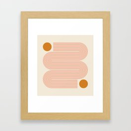 Abstraction_SUN_LINE_ART_Minimalism_002 Framed Art Print