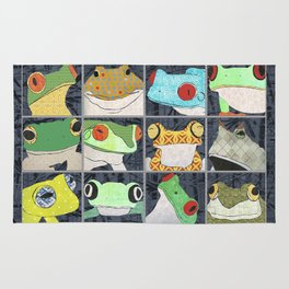 Frogs vertical Rug