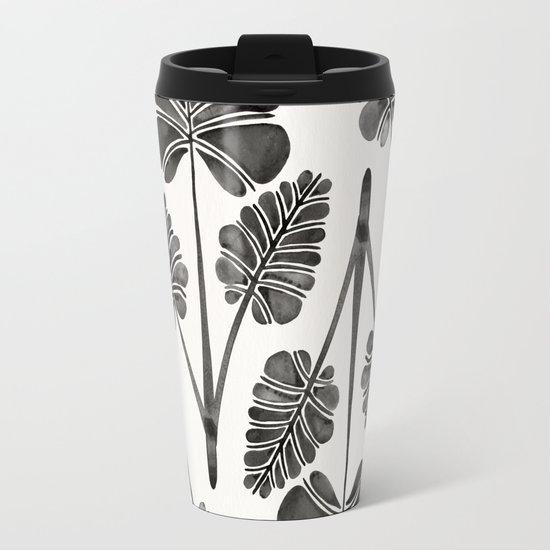 Tropical Palm Leaf Trifecta – Black Palette Travel Mug