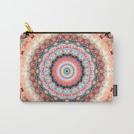 Textured Circles Abstract Carry-All Pouch