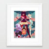 steven universe Framed Art Prints featuring Steven Universe by Merunyaa (Meru)