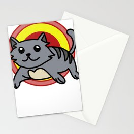 kitten five Stationery Cards