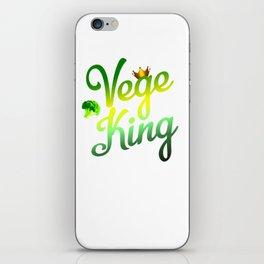 Vege King iPhone Skin