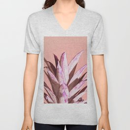 Pink Pineapple Unisex V-Neck