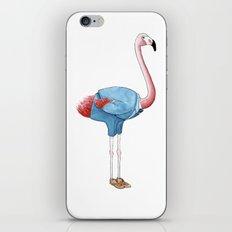 Flamingo in suit iPhone & iPod Skin