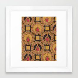 Belle Pattern Framed Art Print