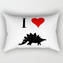 I Love Dinosaurs - Stegosaurus Rectangular Pillow