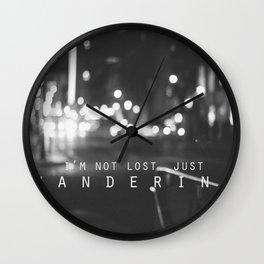 just wandering. Wall Clock