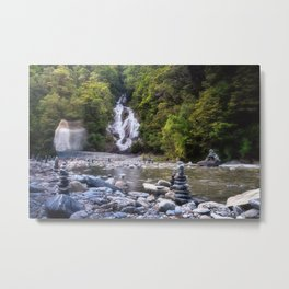A Ghost at Fantail Falls in New Zealand Metal Print