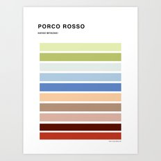 The colors of - Porco Rosso Art Print