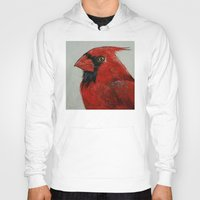 cardinal Hoodies featuring Cardinal by Michael Creese