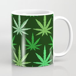 Marijuana Green Leaves Weed Coffee Mug
