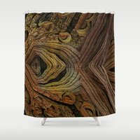 geology Shower Curtains featuring Stones by GC