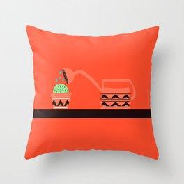 Cactus shower Throw Pillow