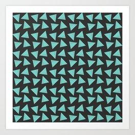 black cyan pattern Art Print