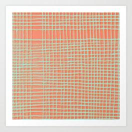 Left - Orange and green Art Print
