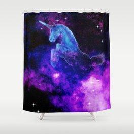 Cosmic Unicorn Shower Curtain