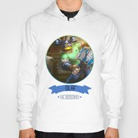 league of legends Hoodies featuring League Of Legends - Olaf by TheDrawingDuo