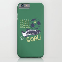 Soccer. Goal. iPhone Case