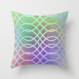 Northern lights pattern Throw Pillow