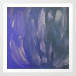 Purple Brush Strokes Art Print