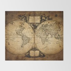 World Map 1752 Throw Blanket