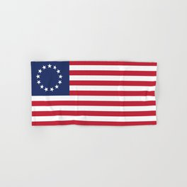Betsy Ross flag of the USA - Authentic HQ version Hand & Bath Towel