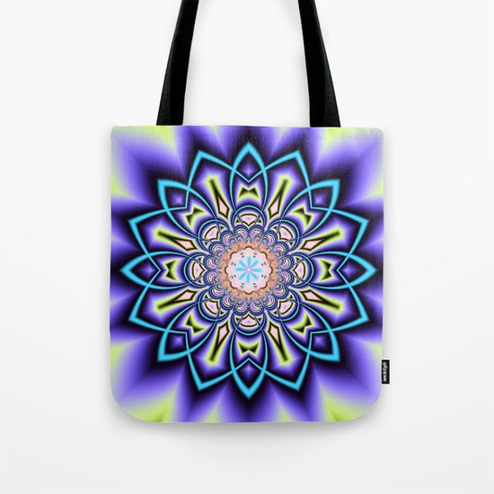 Geometric starry fantasy flower Tote Bag
