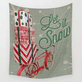 Holiday Bicycle Wall Tapestry