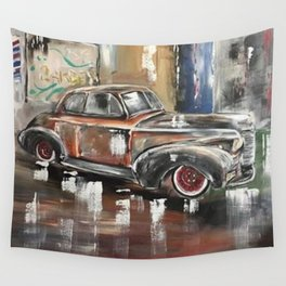 Vintage Car Antique Car 40's car 1940's car Wall Tapestry