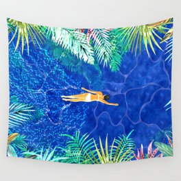 Tropical Jungle Pool Wall Tapestry