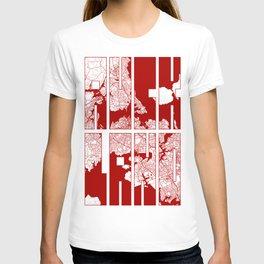 Auckland City Map of New Zealand - Oriental T-shirt