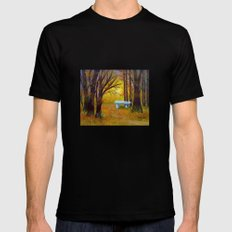 Enchanted forest Black Mens Fitted Tee MEDIUM