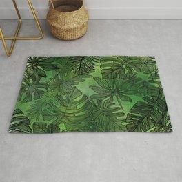 Jungle Leaves Green Rug